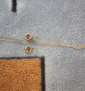 """Ожерелье и серьги в подарочной коробке """"Вайолет """""""