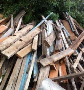 Отдам сухие дрова (доски чурки)