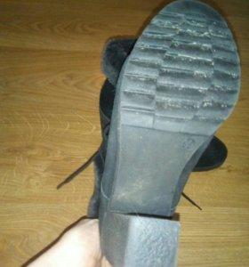 Ботинки 39 замша зимние, состояние отличное