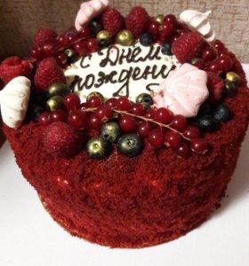 "Домашний торт ""Красный бархат"""