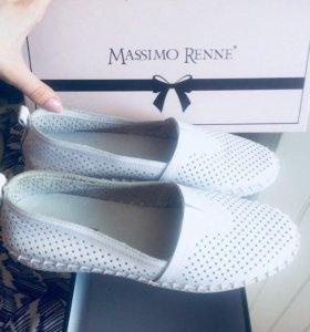 Новые итальянские женские мокасины massimo renne