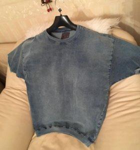 Джинсовая футболка Zara Man
