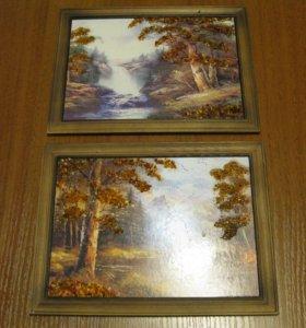 Картины с янтарной крошкой
