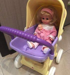 Коляска для кукол и кукла