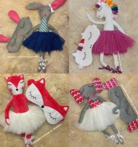 Комплект кукла + маска для сна в ассортименте