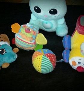 Мягкие игрушки + музыкальный ночник