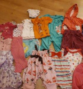 Пакет вещей на девочку 1-1,5года на лето!