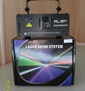 Дискотечный трехцветный лазер ALIEN DM-RGB400