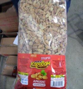 Арахис соленый 1250кг в упаковке
