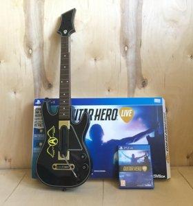 Guitar Hero Live для PS4 (гитара + игра)