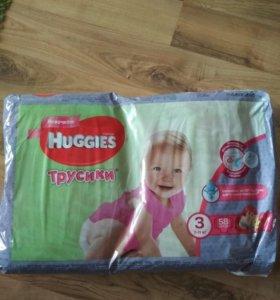 Памперсы трусики Huggies 3
