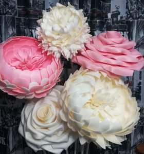 Гигантские цветы и кусты из изолона, фома!!!