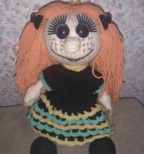 Смешная рыжая кукла ручной работы