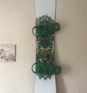 Комплект сноуборд+доска+крепы+боты