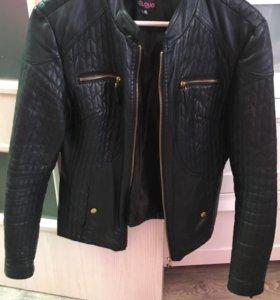 Кожаная куртка ( кож.зам) размер 44-46
