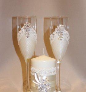 Свадебные бокалы Айвори