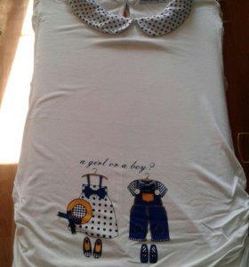 Беременным футболка-туника