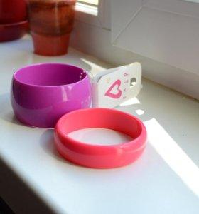 Новые браслеты женские пластик на руку стильные