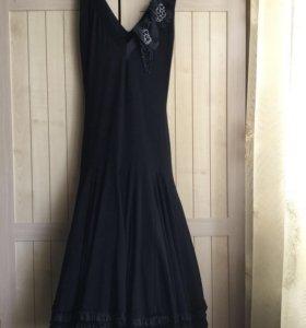 Черное, вечернее платье Nelva.Вариант для танцев