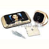 Цветной видеоглазок Home DVR с записью,ИК-подсветк