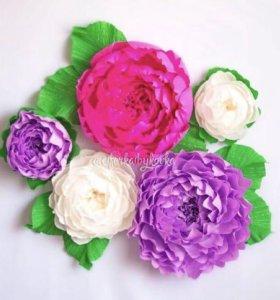Настенные бумажные цветы