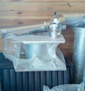 Печь термофор и к ней сборная труба