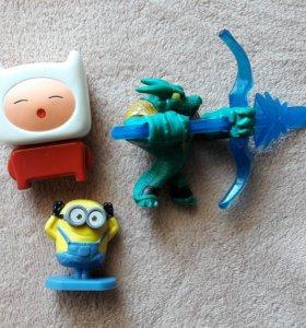 Игрушки из macdonalds adventure time миньоны