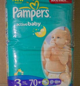 Памперсы Pampers active baby-dry 3