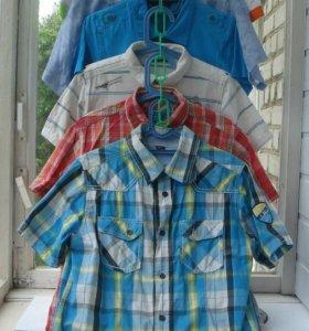 Рубашка с коротким рукавом на мальчика.