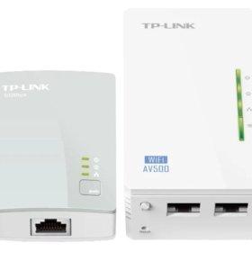 Навый .Wi-Fi+Powerline адаптер