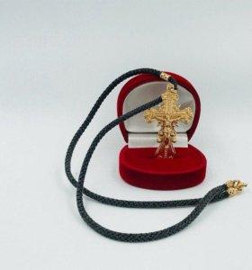 Веревка с крестом 585пр. вес 16.41 гр.