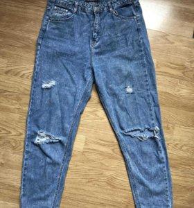 Женские джинсы бойфренды на высокой талии