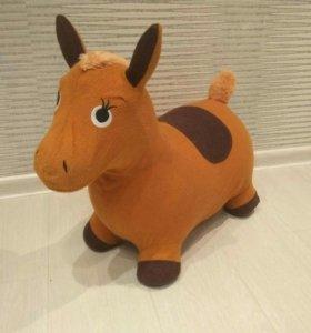 Прыгун надувной лошадь осел