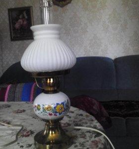 Винтажная настольная лампа, под керосинку