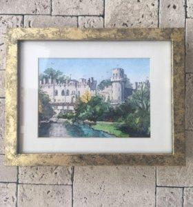Акварель в подарок «Замок»