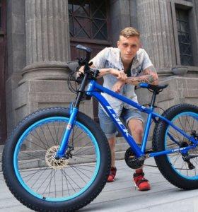 Fatbike Фэтбайк велосипед 24 скорости шины 26*4