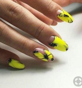 Наращивание ногтей маникюр