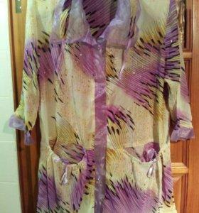 блуза шифоновая разм 46 -48