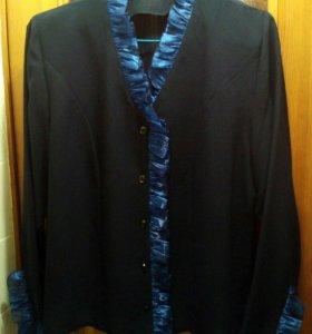 блуза синяя разм 48-50