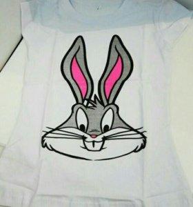 Новая футболка с кроликом
