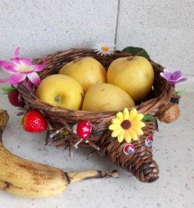 Корзинка - Ёжик для фруктов. Интересно детям!