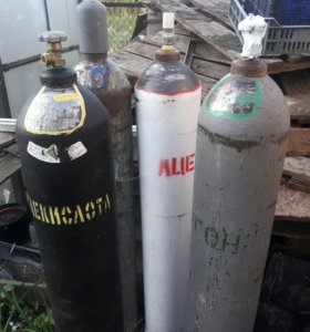 Баллон аргон, углекислота, кислород, ацетилен.