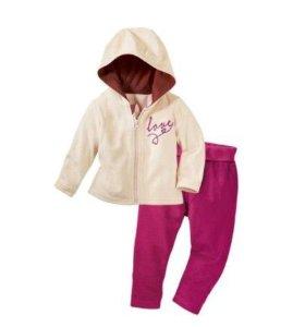Велюровый костюмчик Lupilu для девочки.