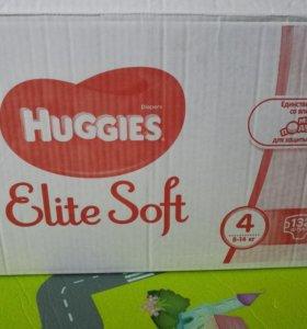 Huggies elite soft 4 132 шт.