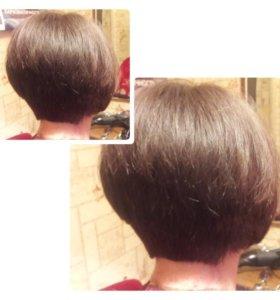 Женская стрижка,мужская,полировка волос ,причёски
