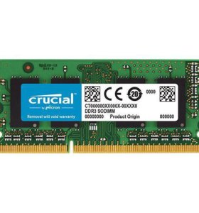 Модуль оперативной памяти Crucial sodimm 8gb ddr3l