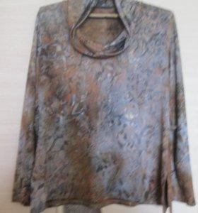 Блузка из шелковистого трикотажа