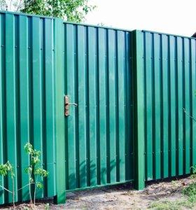 Забор для дачи из профлиста 👍🏼