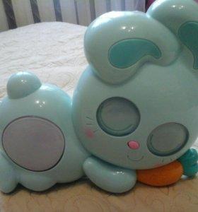 Ночник проектор в дет кроватку, кролик Беби Бани!