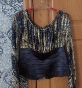 Блузка с корсетом